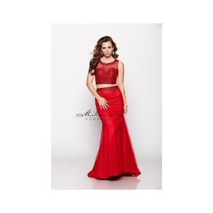 Two piece formal gown